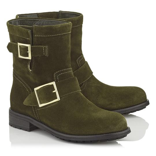 Preload https://item5.tradesy.com/images/jimmy-choo-green-youth-suede-biker-bootsbooties-size-us-6-regular-m-b-21555414-0-0.jpg?width=440&height=440