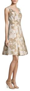 Aidan Mattox Floral Jacquard A-line Party Dress