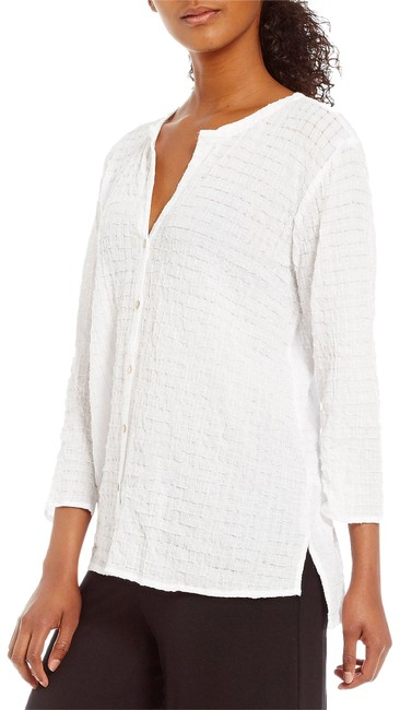 Preload https://item2.tradesy.com/images/eileen-fisher-white-s7ocu-t4171m-organic-button-front-shirt-button-down-top-size-2-xs-21555521-0-4.jpg?width=400&height=650
