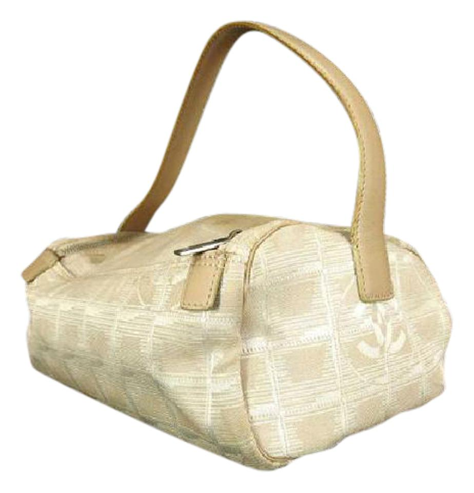 3cc9405d55c9 Chanel Quilted New Line Toiletry Case 219710 Beige Canvas Hobo Bag ...