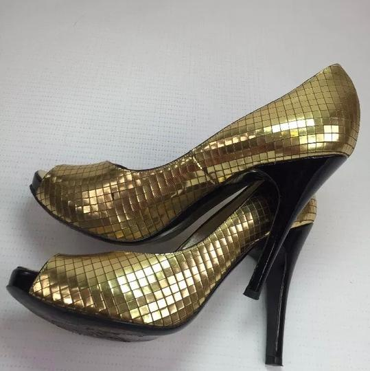 Luciano Padovan gold Pumps