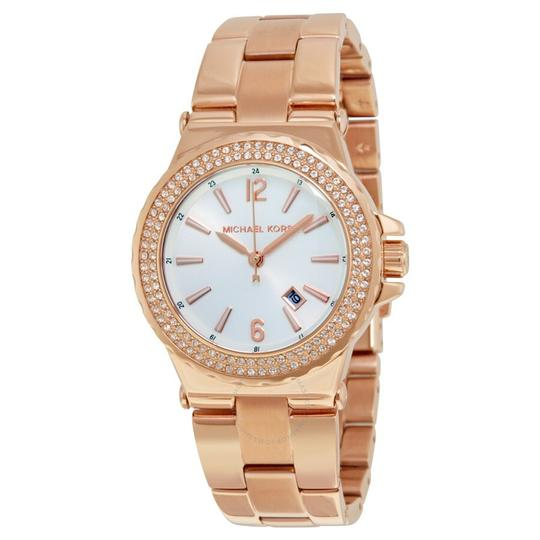 Michael Kors Michael Kors rose gold crystal glitz bracelet watch