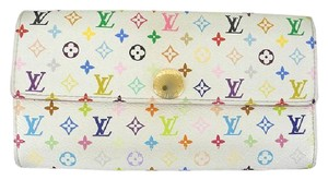 Louis Vuitton Murakami Multicolor Monogram Sarah Wallet 219537