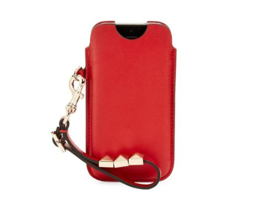 Valentino NEW Valentino RED Leather iPhone 5 Case