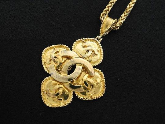 Chanel Gold Cross Necklace 219545