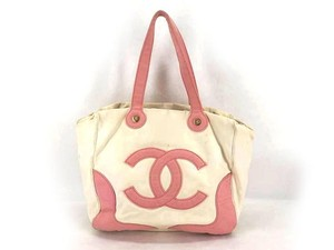 Chanel Logo Shopper Beach Limited Edition Medallion Tote in Pink