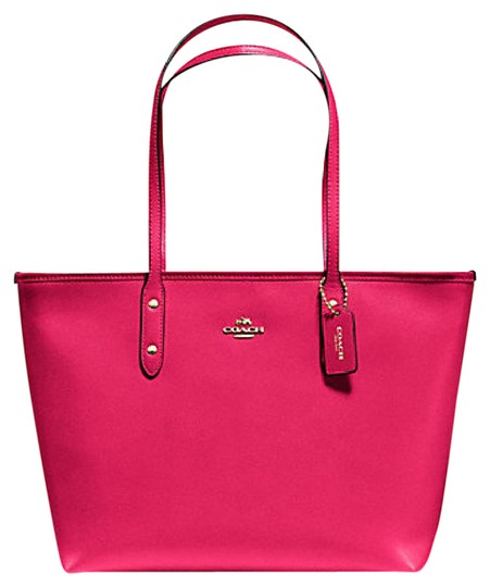 Preload https://item2.tradesy.com/images/coach-city-zip-top-f-58846-34614-bright-pink-leather-tote-21555766-0-1.jpg?width=440&height=440