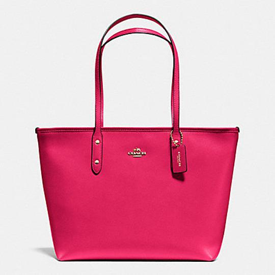 Coach Shoulder 36875 Satchel City Tote in bright pink