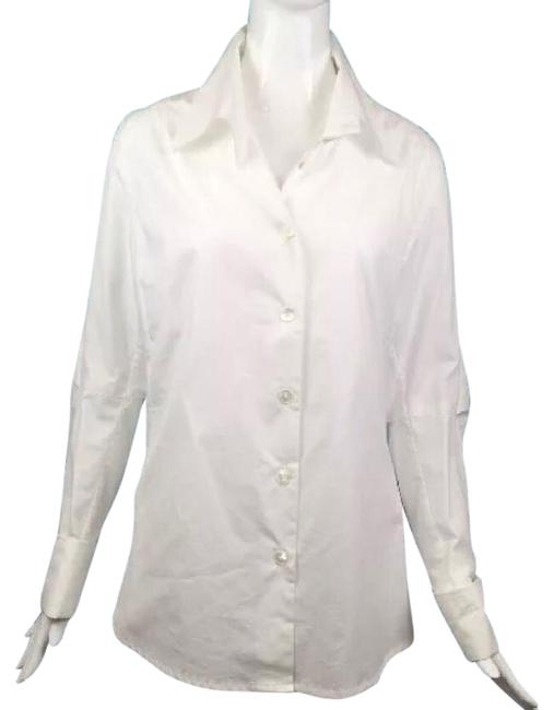 Preload https://item3.tradesy.com/images/ann-demeulemeester-white-button-blouse-button-down-top-size-6-s-21555812-0-1.jpg?width=400&height=650