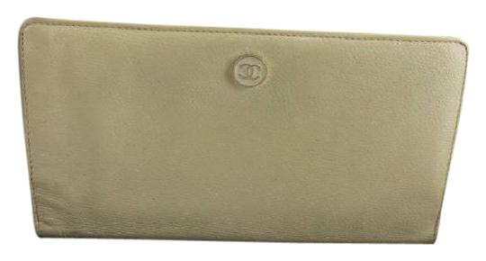 Chanel Beige Caviar Button Line Wallet 219449