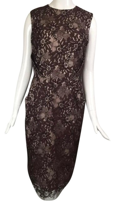 Preload https://img-static.tradesy.com/item/21555996/barneys-new-york-brown-floral-lace-mid-length-cocktail-dress-size-8-m-0-3-650-650.jpg