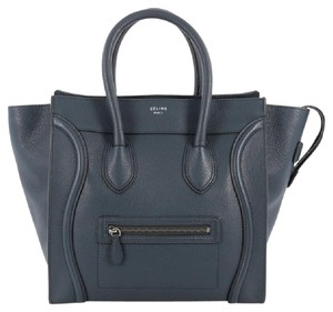 Celine Leather Luggage Tote