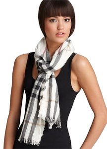 Burberry Burberry check crinkle scarf