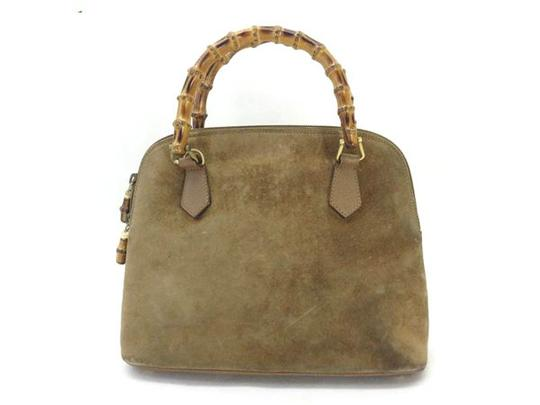 Preload https://item3.tradesy.com/images/gucci-bamboo-219428-brown-suede-leather-satchel-21556107-0-1.jpg?width=440&height=440