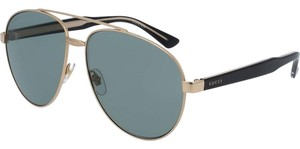 Gucci Gucci Sky Grey Aviator Gold Frame Authentic Ladies Sunglasses