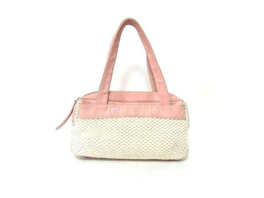 Preload https://item1.tradesy.com/images/chanel-woven-two-tone-satchel-219321-white-x-pink-suede-leather-tote-21556395-0-0.jpg?width=440&height=440