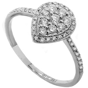 ABC Jewelry Diamond fashion ring .33tcw g color si1 clarity 14k white gold