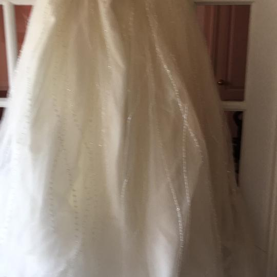 Alfred Angelo Ivory Satin and Tulle Hand Stitched Formal Wedding Dress Size 16 (XL, Plus 0x)