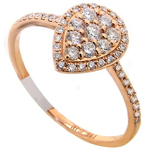 ABC Jewelry Diamond fashion ring .41tcw g color si1 clarity 14k rose gold