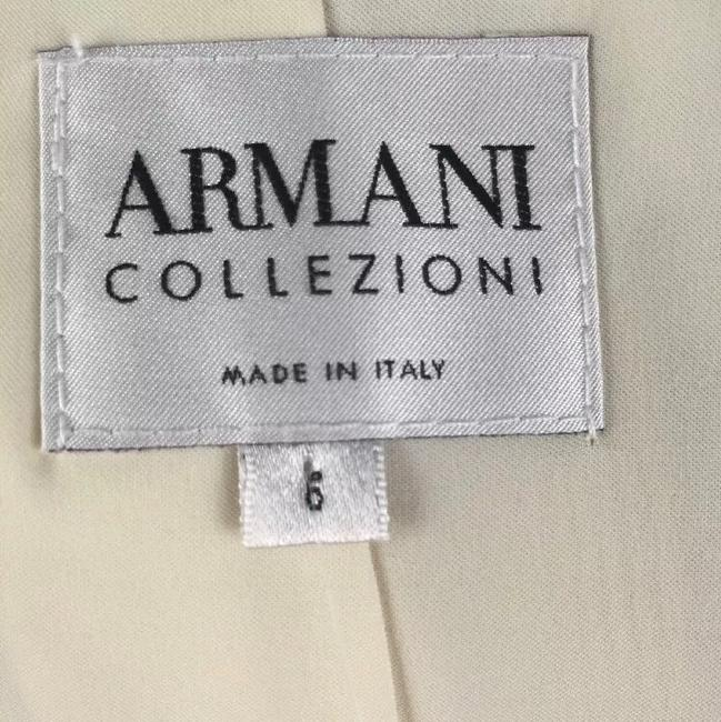 Armani Collezioni off white Womens Jean Jacket