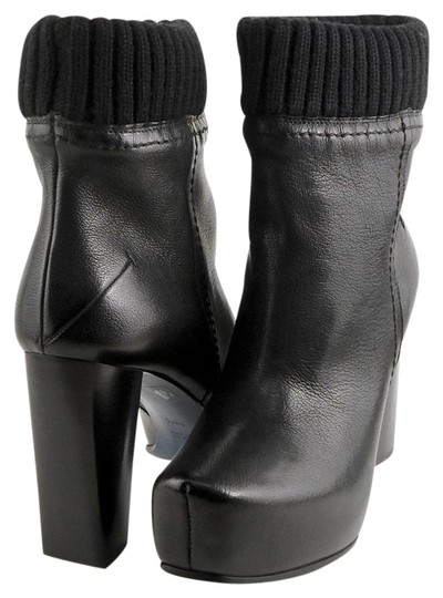 Preload https://img-static.tradesy.com/item/21556709/costume-national-black-leather-knit-cuff-ankle-heels-eur-385-bootsbooties-size-us-8-narrow-aa-n-0-1-540-540.jpg