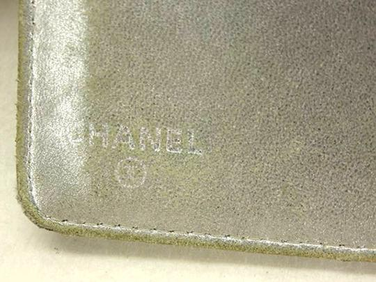 Chanel Quilted Mirror Silver Long Wallet 219330