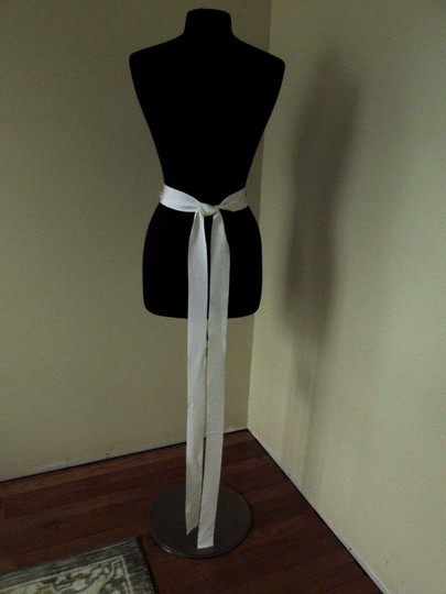 lesAccessories lesAccessories- Bridal Sash- Ivory- beads and Rhinestone with feather