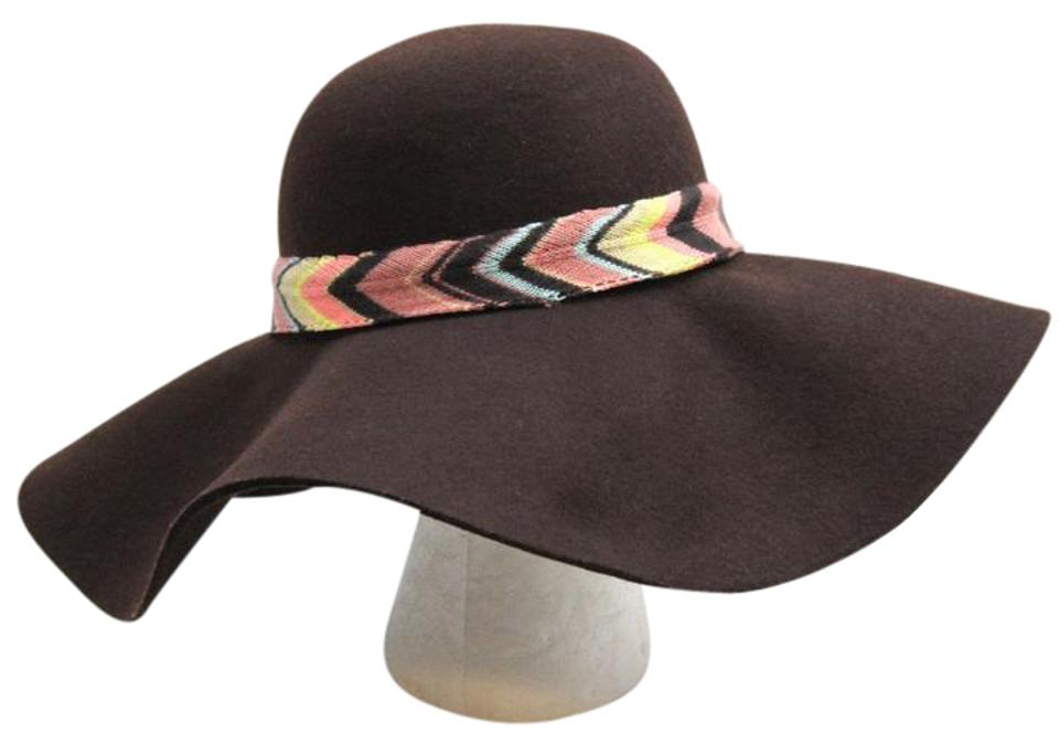 ad21a83685f25 Missoni for Target Missoni for Target Brown Wool Boho Chic Floppy Hat Image  0 ...
