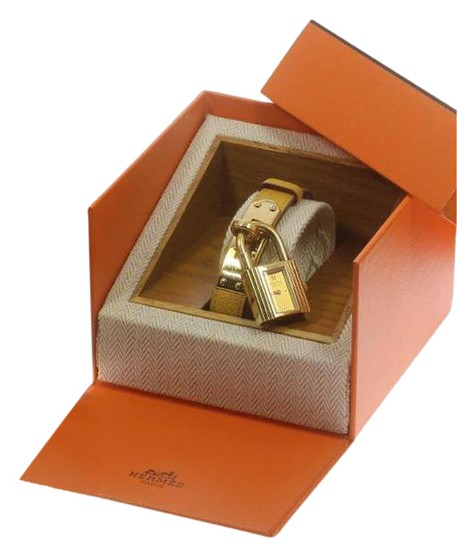Preload https://item2.tradesy.com/images/hermes-yellow-gold-18kt-gold-kelly-plated-epsom-leather-and-watchbox-watch-21556916-0-3.jpg?width=440&height=440