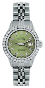 Rolex 1.3CT 26MM LADIES ROLEX DATEJUST S/S WATCH WITH ROLEX BOX&APPRAISAL