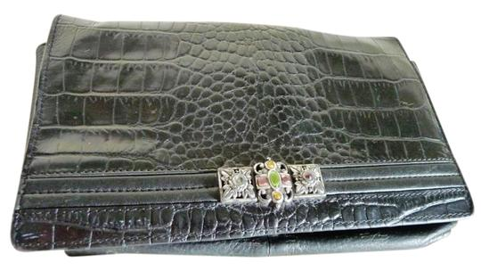 Preload https://item3.tradesy.com/images/brighton-croc-embossed-wallet-deep-brown-leather-clutch-21556977-0-2.jpg?width=440&height=440