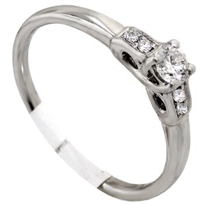 ABC Jewelry Engagement ring .29tcw I color si2 clarity 18k white gold