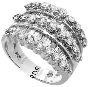 ABC Jewelry Diamond fashion ring 3.00tcw h color si1 clarity 14k white gold