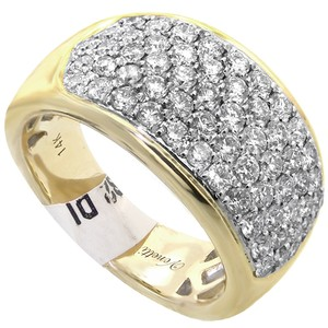 ABC Jewelry 14kt yellow gold and diamond ring