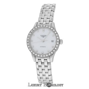 Longines New Ladies Longines Flagship L42740876 Steel Watch Diamond MOP