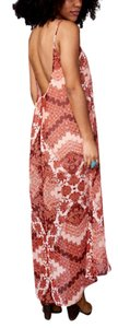 Red Maxi Dress by Show Me Your Mumu Draped Maxi Strappy Back Maxi Floral Printed Smym Light Cream