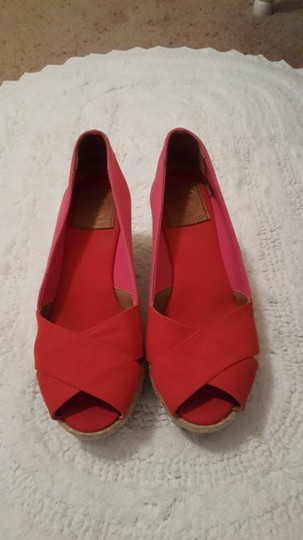Tory Burch Espadrille Pink/Red Wedges