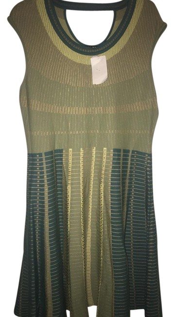 Preload https://item3.tradesy.com/images/niczoe-green-and-gold-mid-length-cocktail-dress-size-12-l-21557152-0-2.jpg?width=400&height=650