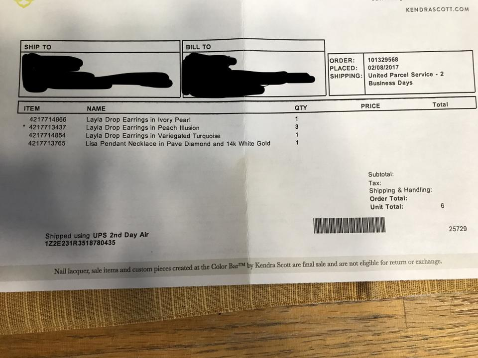 Kendra Scott Exchange Policy Without Receipt