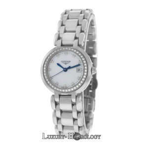 Longines New Ladies Longines Prima Luna L81100876 MOP Diamond Steel