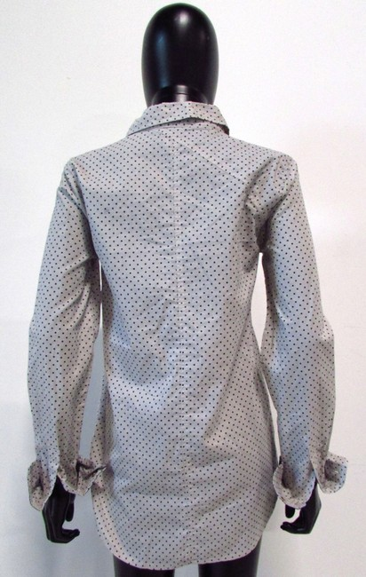 Volcom Polka Dot Casual Pockets Button Down Shirt Vapor Gray