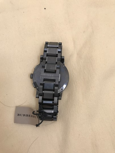 Burberry $900 NWT Men's Swiss Chronograph Gray Ion-Plated WATCH BU9365