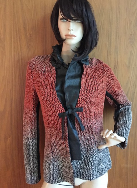 Save The Queen Sweater Cardigan Leather brown Jacket