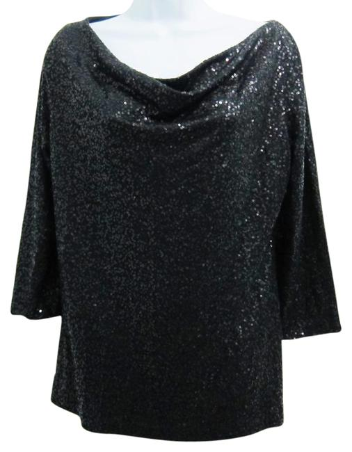 Preload https://item4.tradesy.com/images/eileen-fisher-black-sequin-34-sleeve-cowl-neck-silk-night-out-top-size-10-m-21557338-0-3.jpg?width=400&height=650