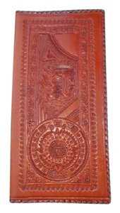 Mexican Import Leather Mexican Hand Stamped Wallet