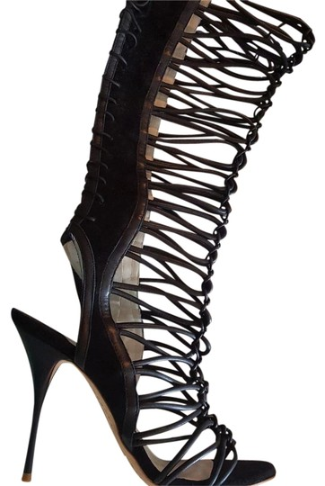 Sophia Webster Knee-high Gladiator Sexy Clementine Black Sandals