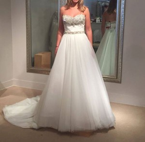 Cristiano Lucci Lace and Tulle Leighton - Style # 12832 Traditional Wedding Dress Size 4 (S)
