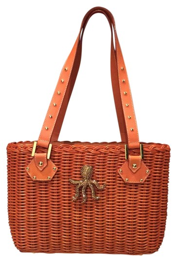 Preload https://item5.tradesy.com/images/octopus-orange-wicker-and-leather-satchel-21557534-0-2.jpg?width=440&height=440