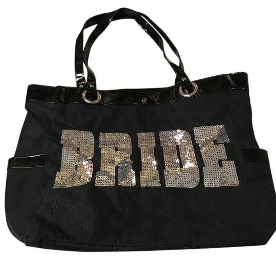 Preload https://item3.tradesy.com/images/bridal-black-and-silver-canvas-tote-21557547-0-2.jpg?width=440&height=440