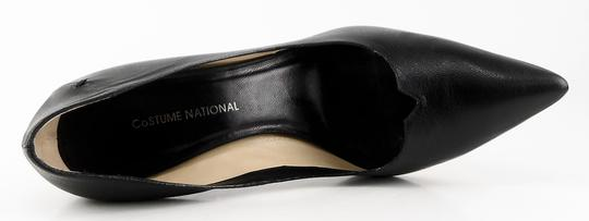 CoSTUME NATIONAL Leather Heels Eur 38 Designer Black Pumps